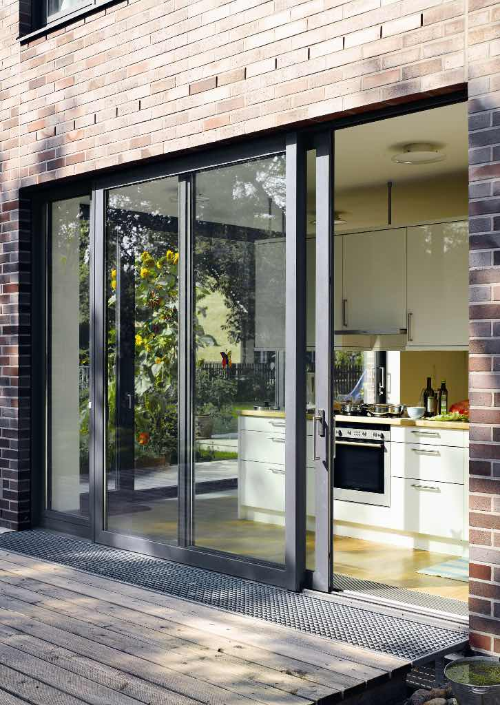 Sliding patio doors north west bifolds for Backyard sliding door