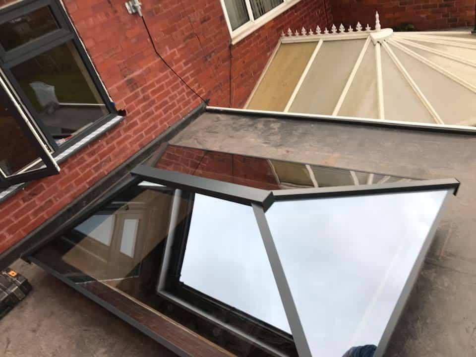 Manchester bifolds, lantern and windows
